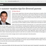 Four summer vacation tips for divorced parents