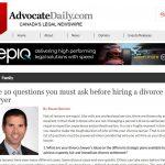Steve Benmor Divorce Lawyer Published