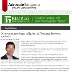 Advocate Daily - Divorce exacerbates religious differences between spouses