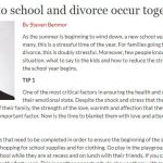 When back to school and divorce occur together