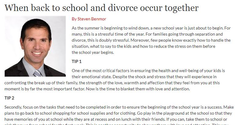 News archives divorce lawyer toronto family lawyer in the media when back to school and divorce occur together solutioingenieria Image collections