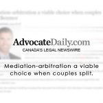 Mediation-arbitration a viable choice when couples split.